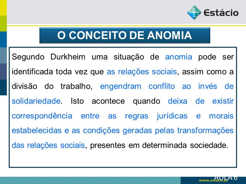 O CONCEITO DE ANOMIA