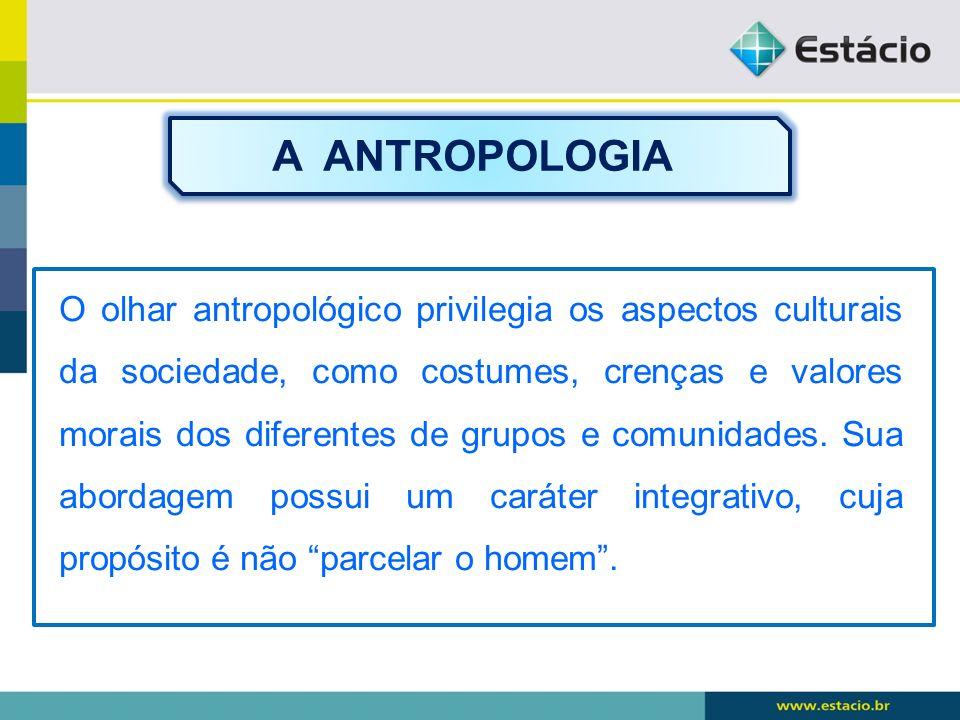 A ANTROPOLOGIA