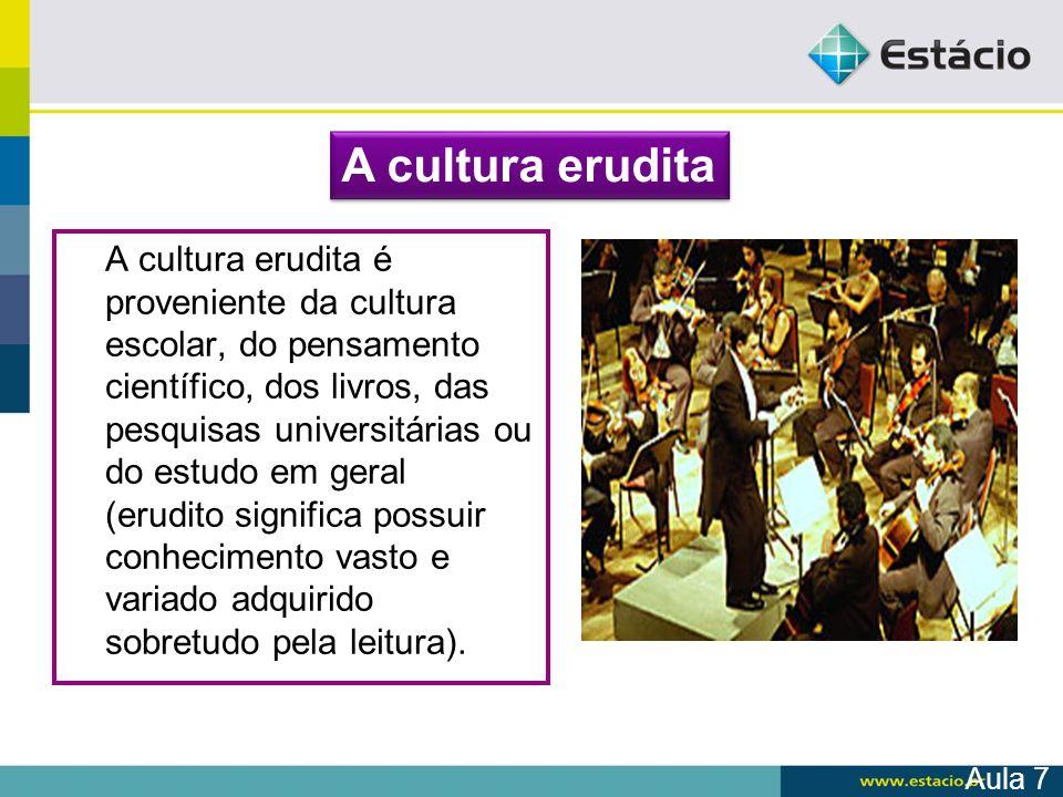 A cultura erudita