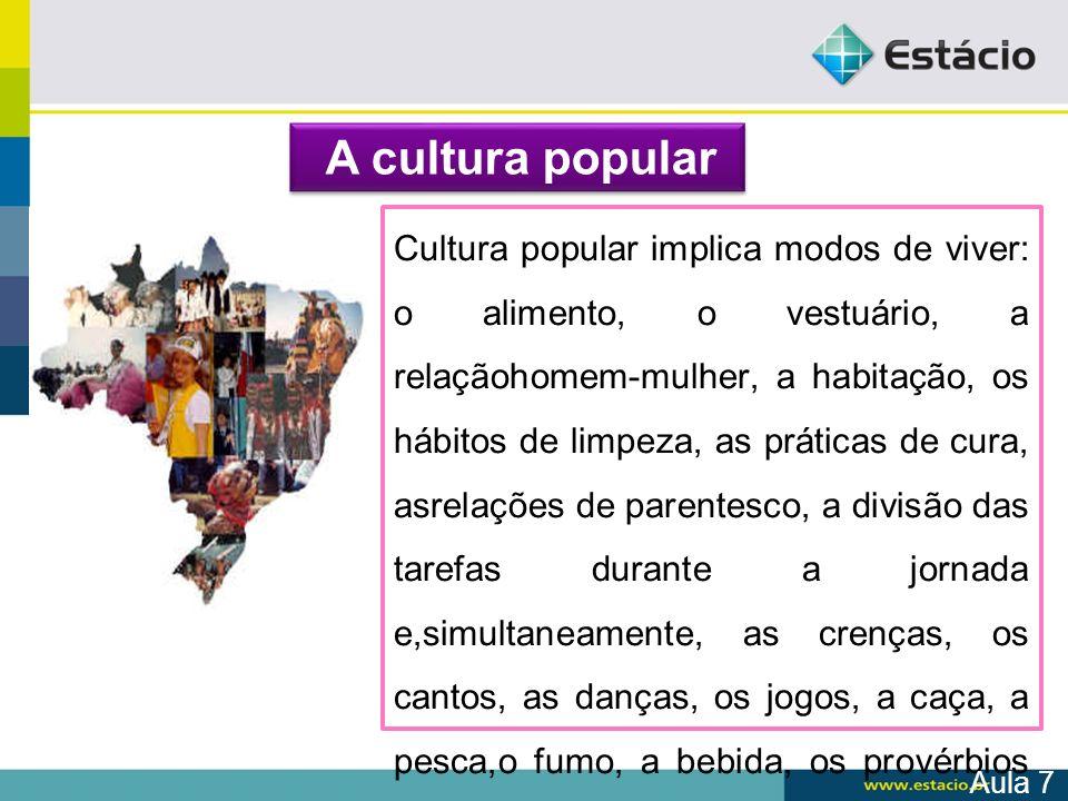 A cultura popular