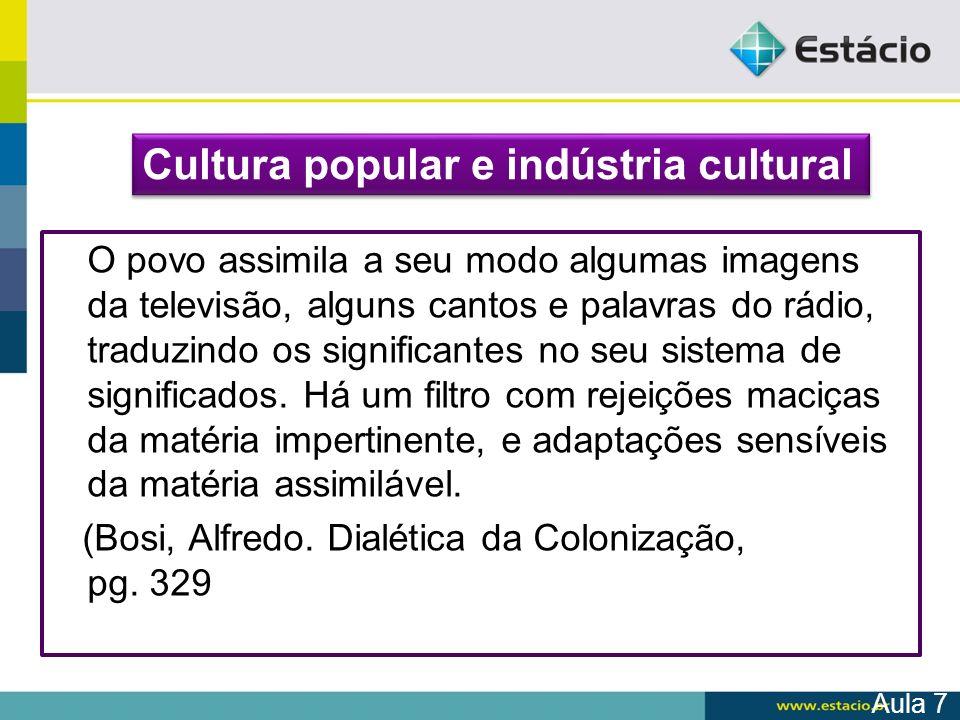 Cultura popular e indústria cultural