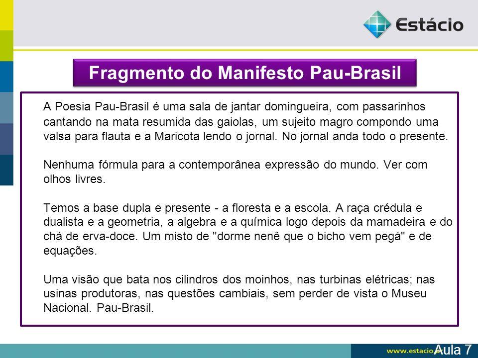 Fragmento do Manifesto Pau-Brasil