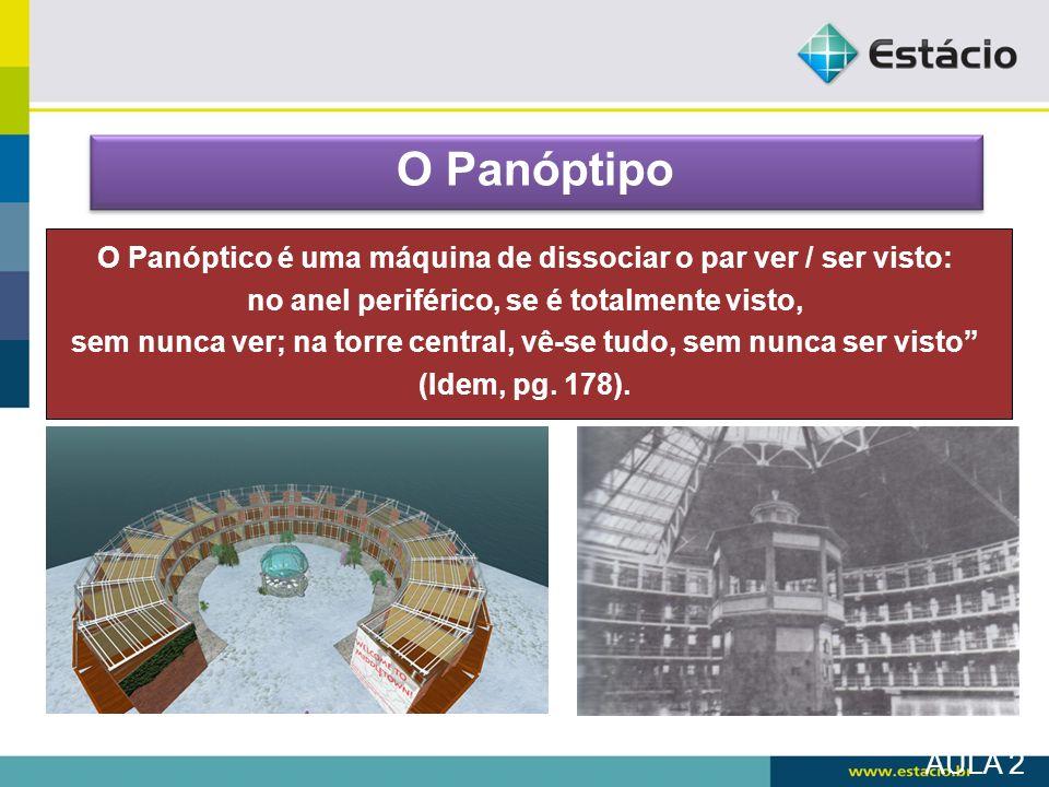 O PanóptipoO Panóptico é uma máquina de dissociar o par ver / ser visto: no anel periférico, se é totalmente visto,