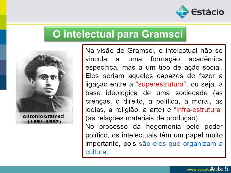 O intelectual para Gramsci