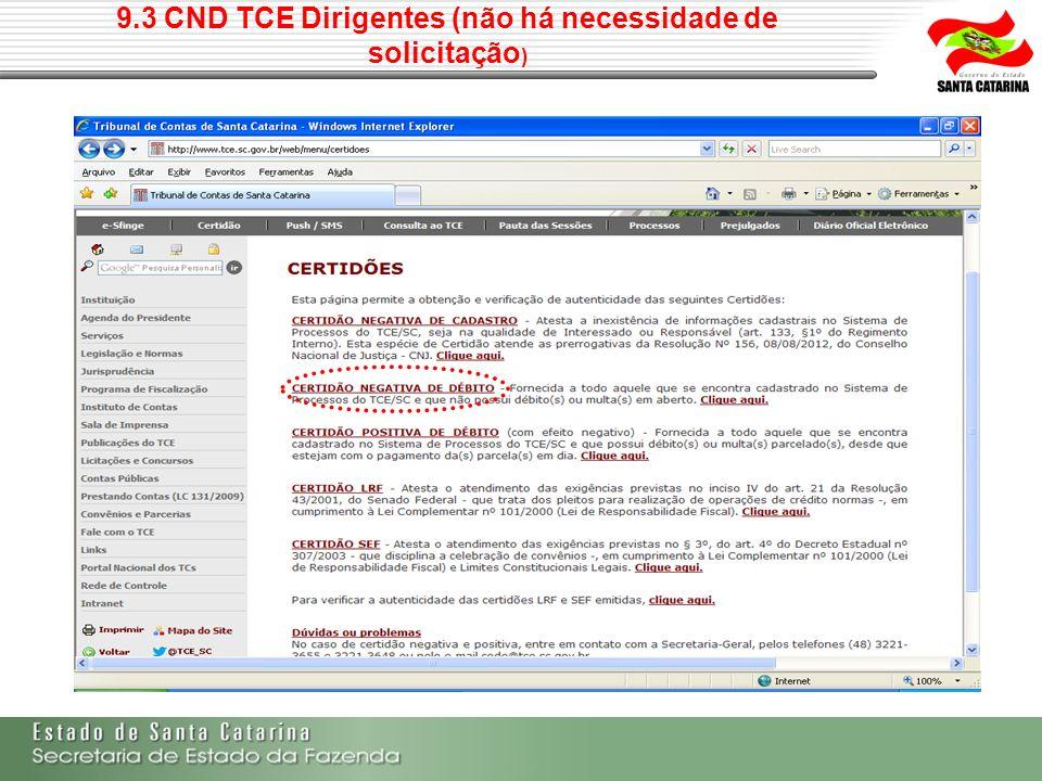 9.3 CND TCE Dirigentes (não há necessidade de solicitação)