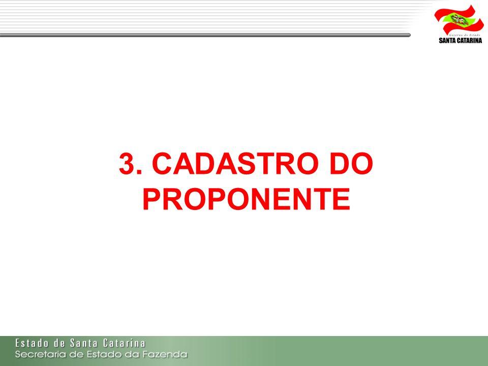 3. CADASTRO DO PROPONENTE