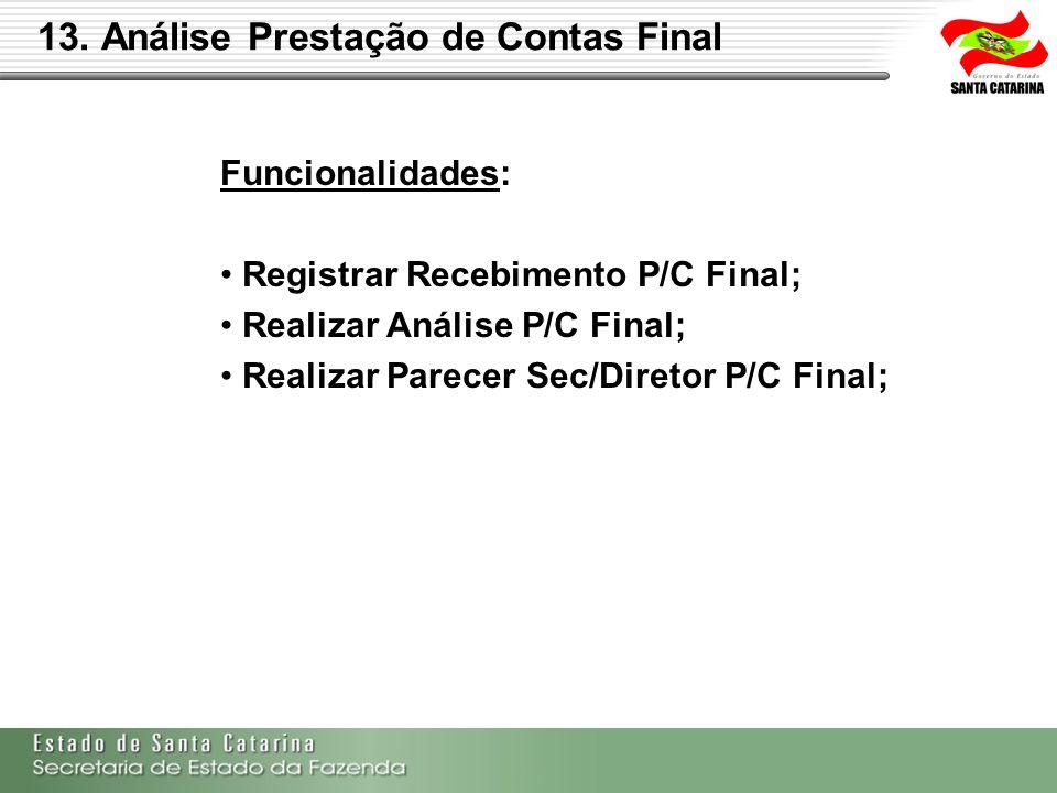 13. Análise Prestação de Contas Final