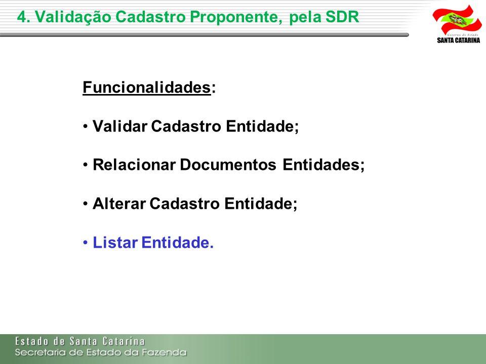 4. Validação Cadastro Proponente, pela SDR