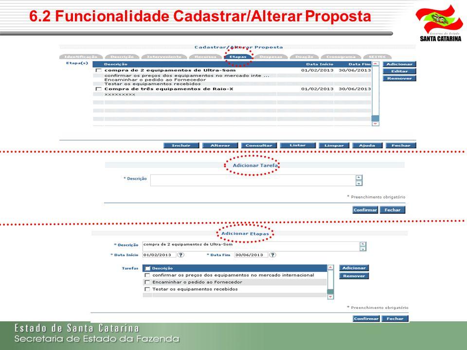 6.2 Funcionalidade Cadastrar/Alterar Proposta