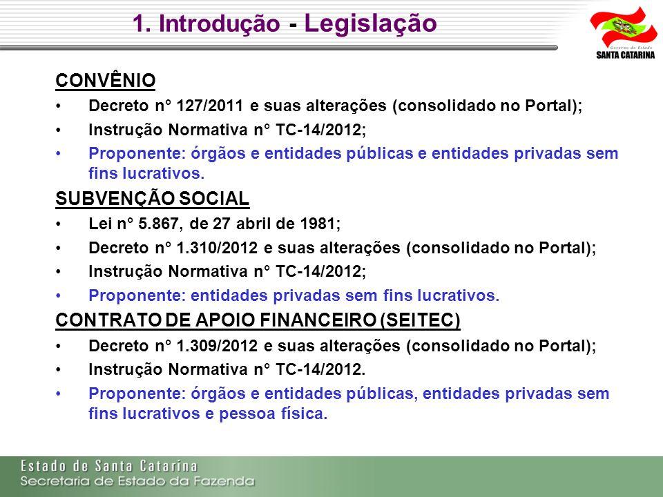 1. Introdução - Legislação