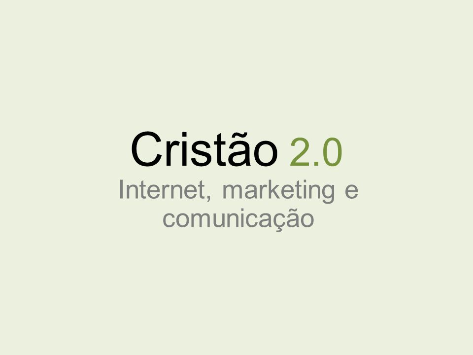 Internet, marketing e comunicação