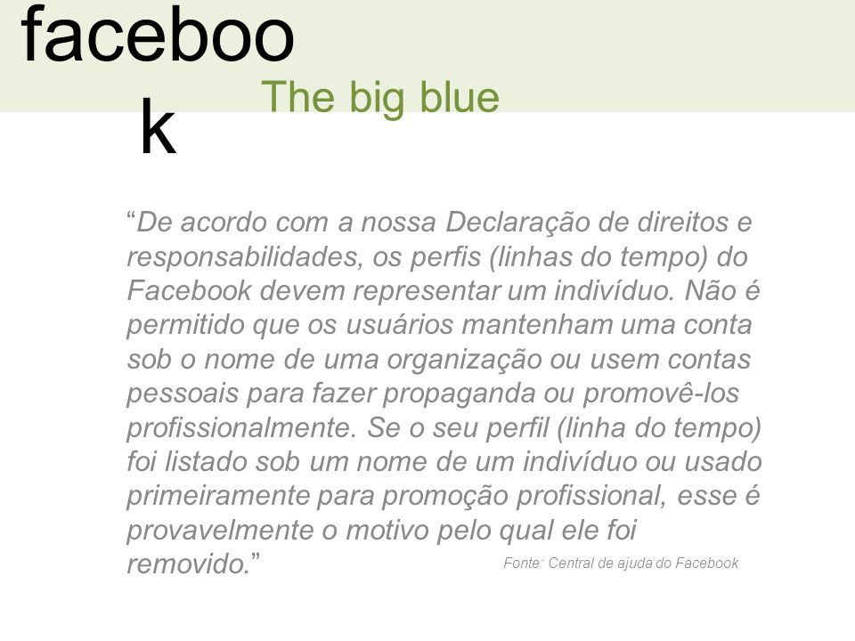 facebook The big blue.