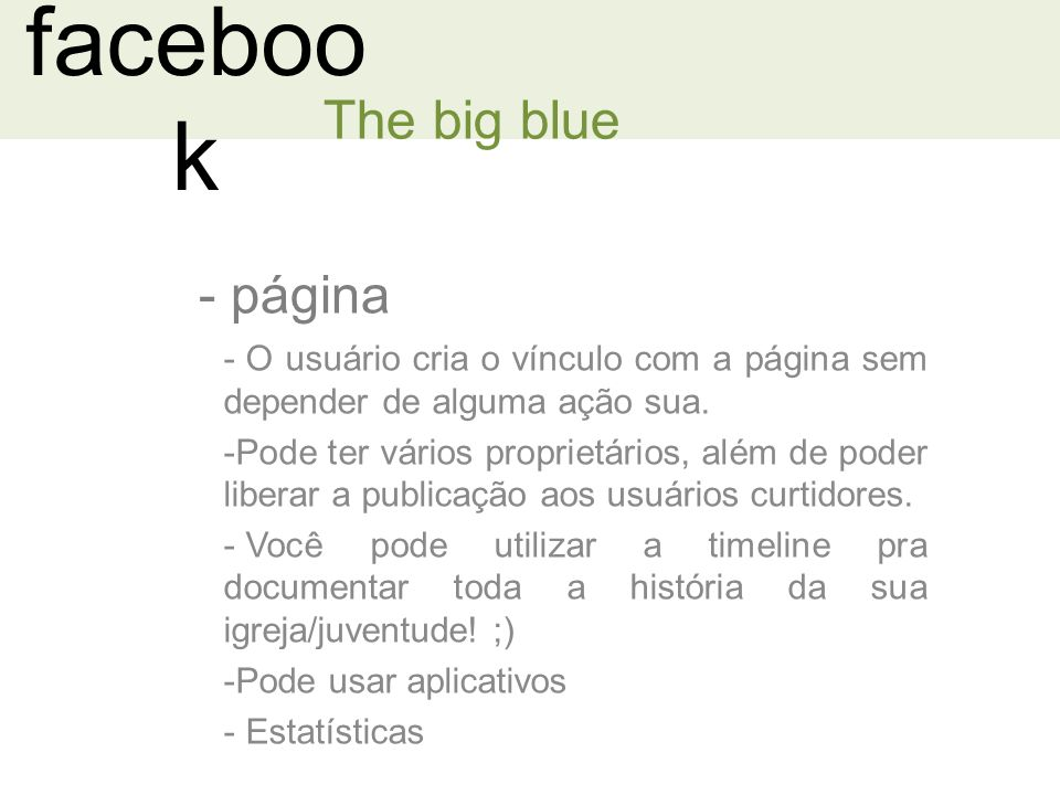 facebook The big blue página