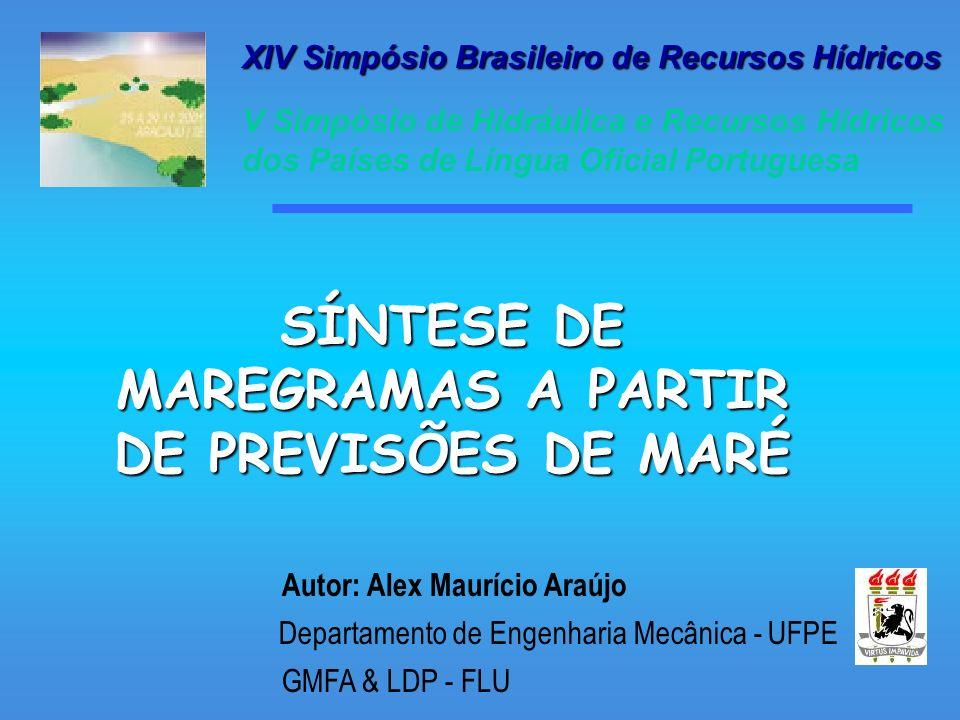 SÍNTESE DE MAREGRAMAS A PARTIR DE PREVISÕES DE MARÉ