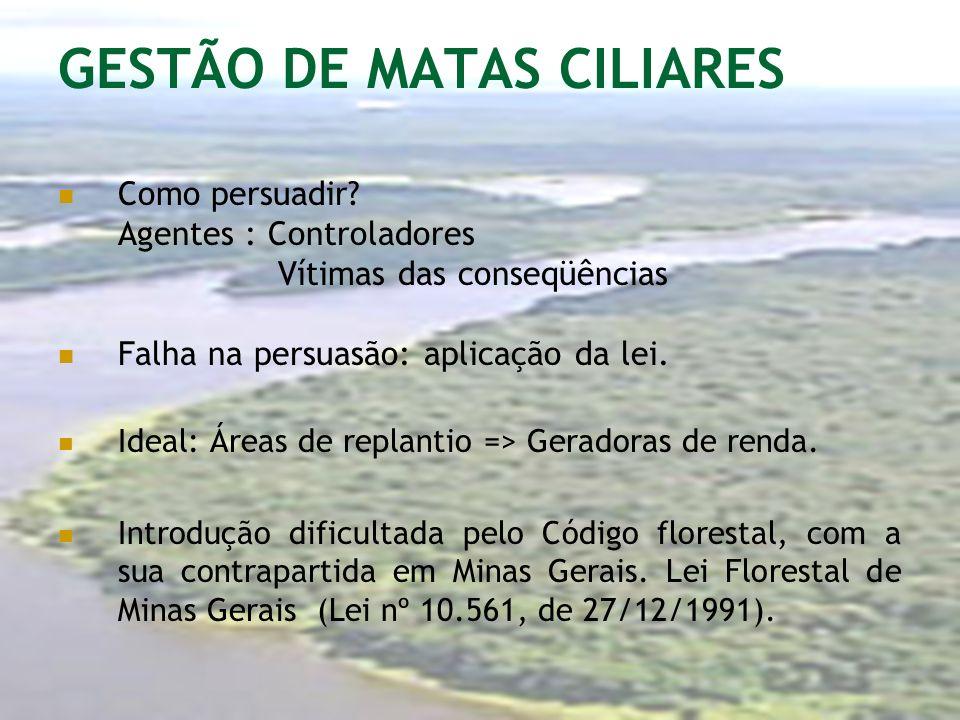 GESTÃO DE MATAS CILIARES