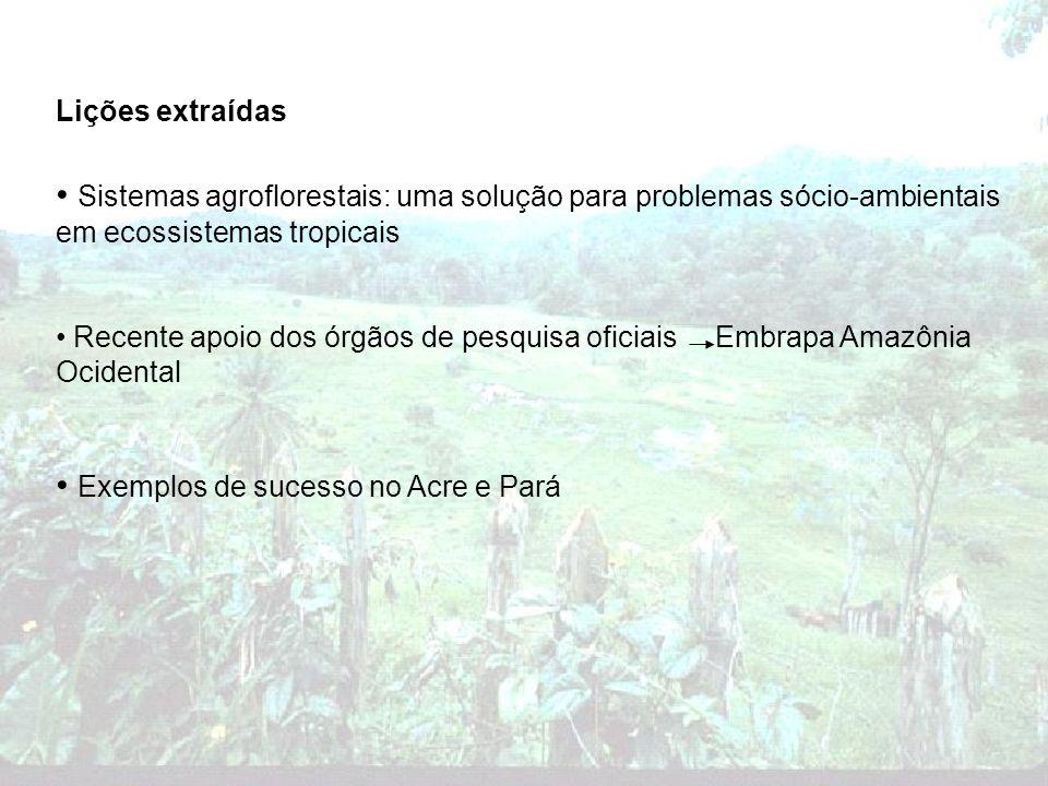 Exemplos de sucesso no Acre e Pará