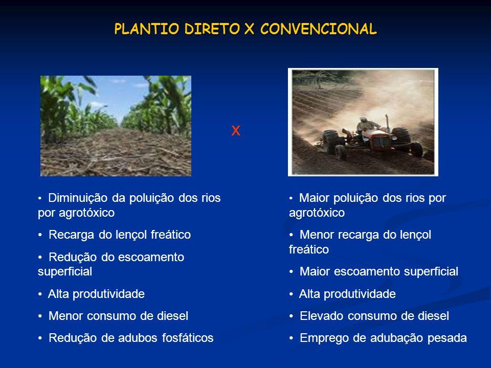 PLANTIO DIRETO X CONVENCIONAL