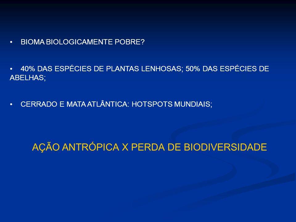 AÇÃO ANTRÓPICA X PERDA DE BIODIVERSIDADE