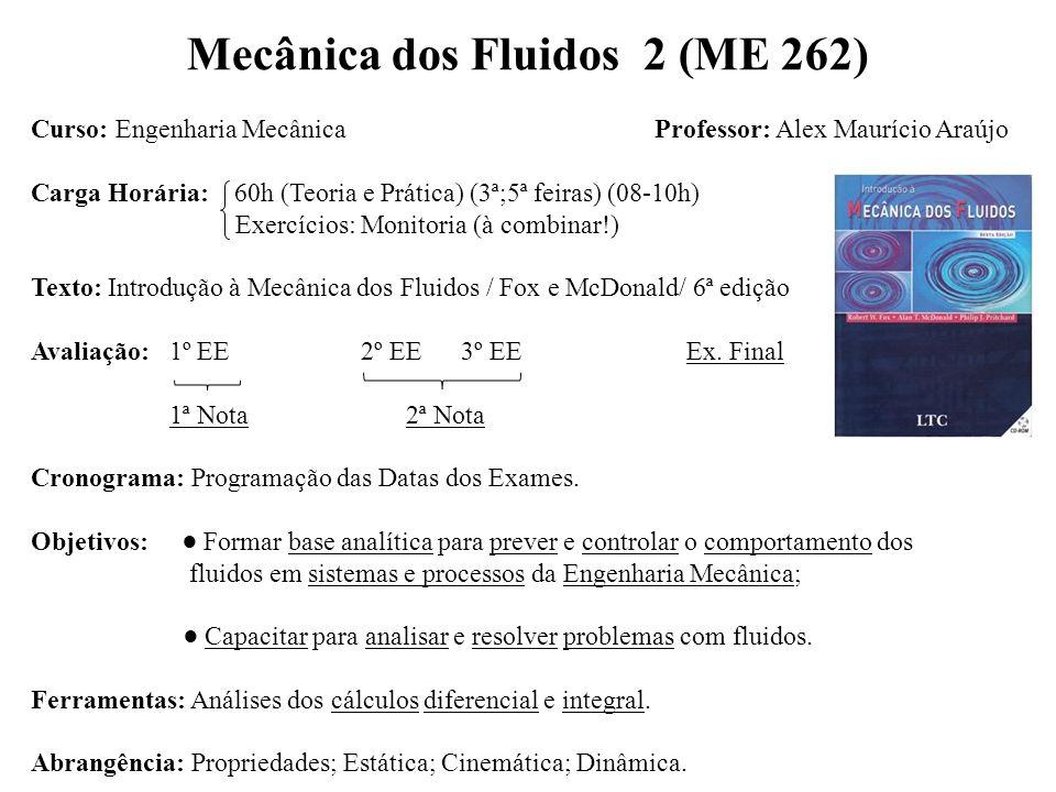 Mecânica dos Fluidos 2 (ME 262)