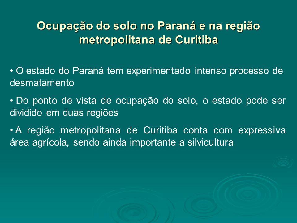 Ocupação do solo no Paraná e na região metropolitana de Curitiba