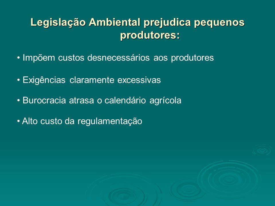 Legislação Ambiental prejudica pequenos produtores:
