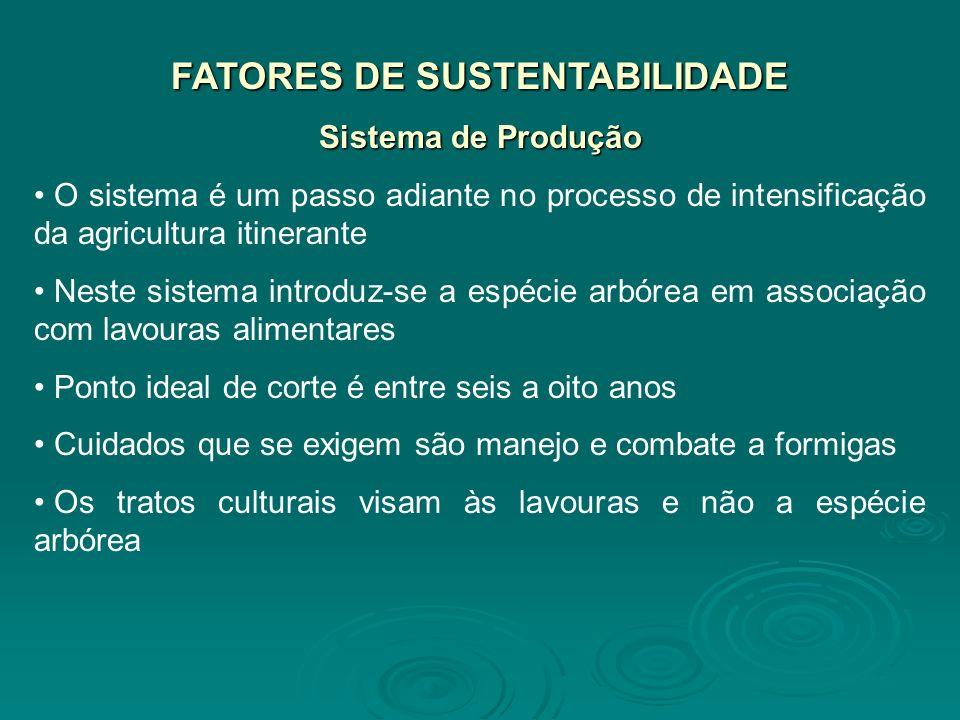 FATORES DE SUSTENTABILIDADE