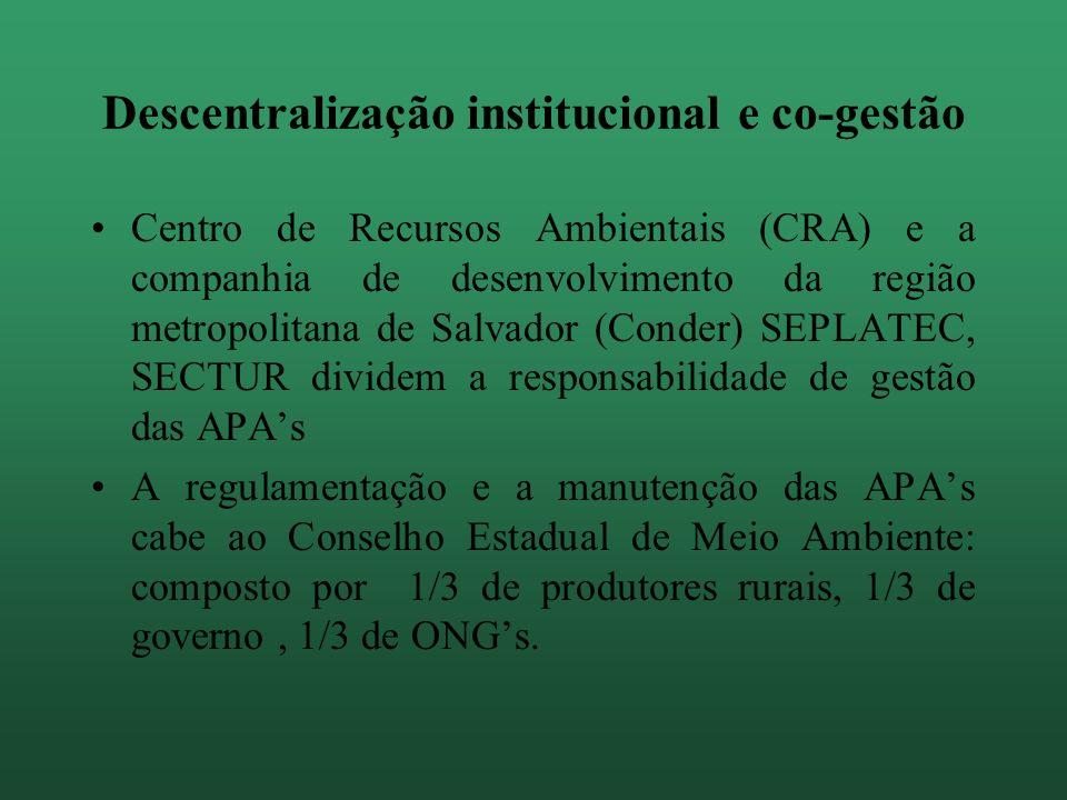 Descentralização institucional e co-gestão