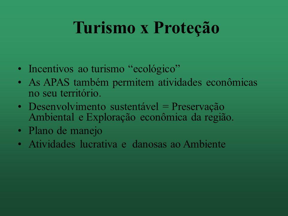 Turismo x Proteção Incentivos ao turismo ecológico