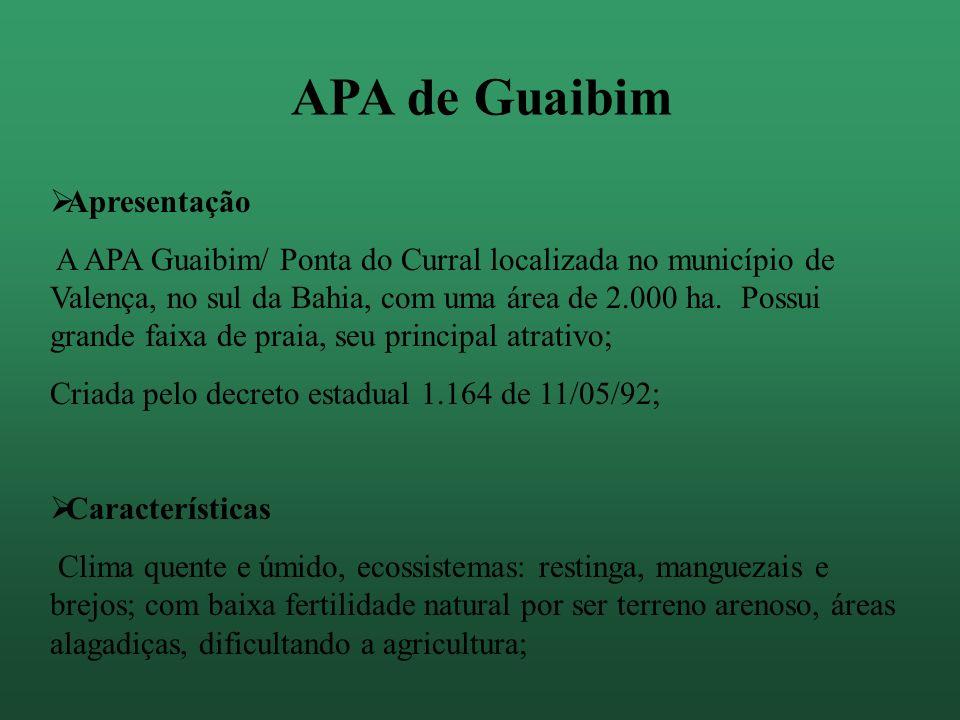APA de Guaibim Apresentação