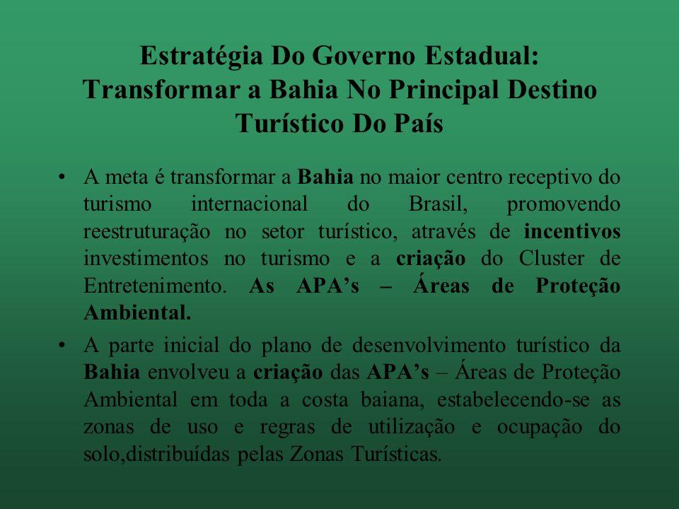 Estratégia Do Governo Estadual: Transformar a Bahia No Principal Destino Turístico Do País