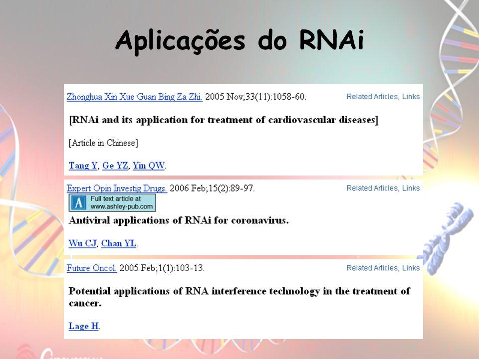 Aplicações do RNAi