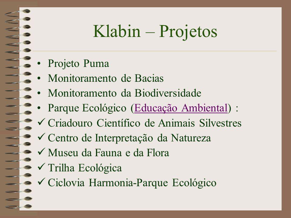 Klabin – Projetos Projeto Puma Monitoramento de Bacias