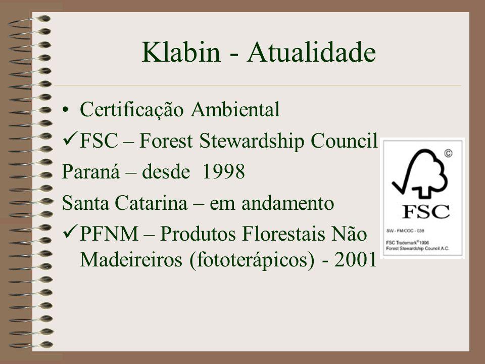 Klabin - Atualidade Certificação Ambiental