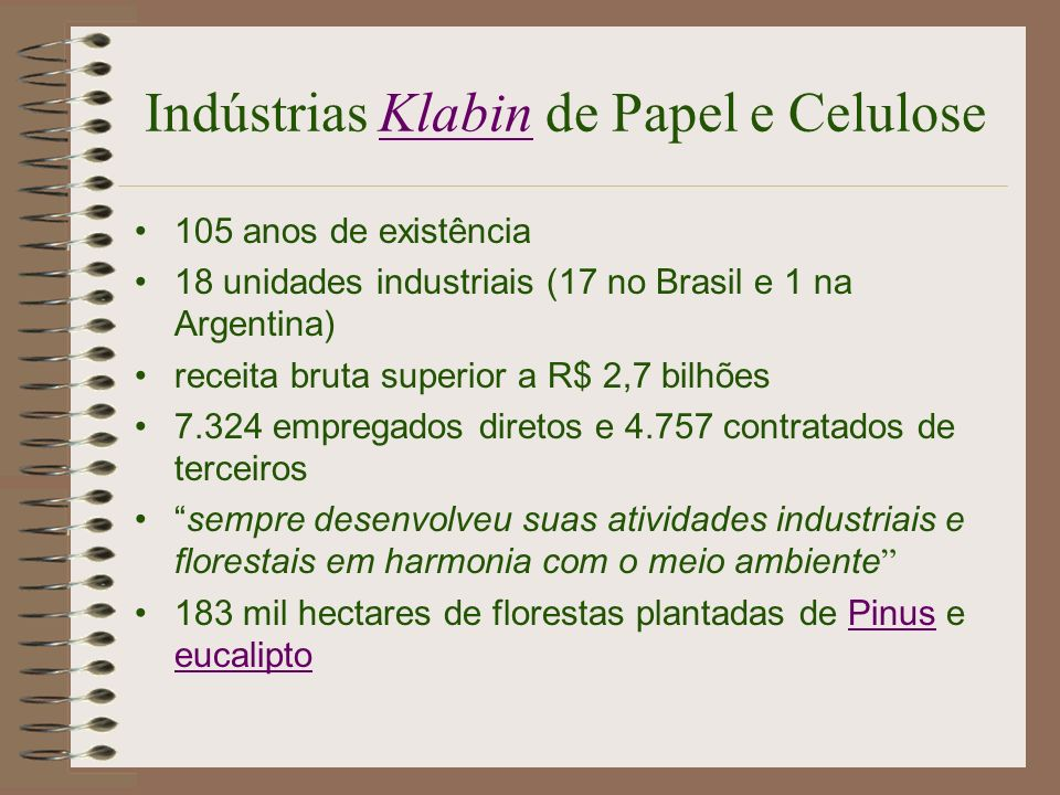 Indústrias Klabin de Papel e Celulose