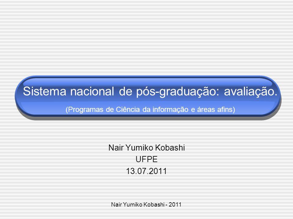 Nair Yumiko Kobashi UFPE 13.07.2011