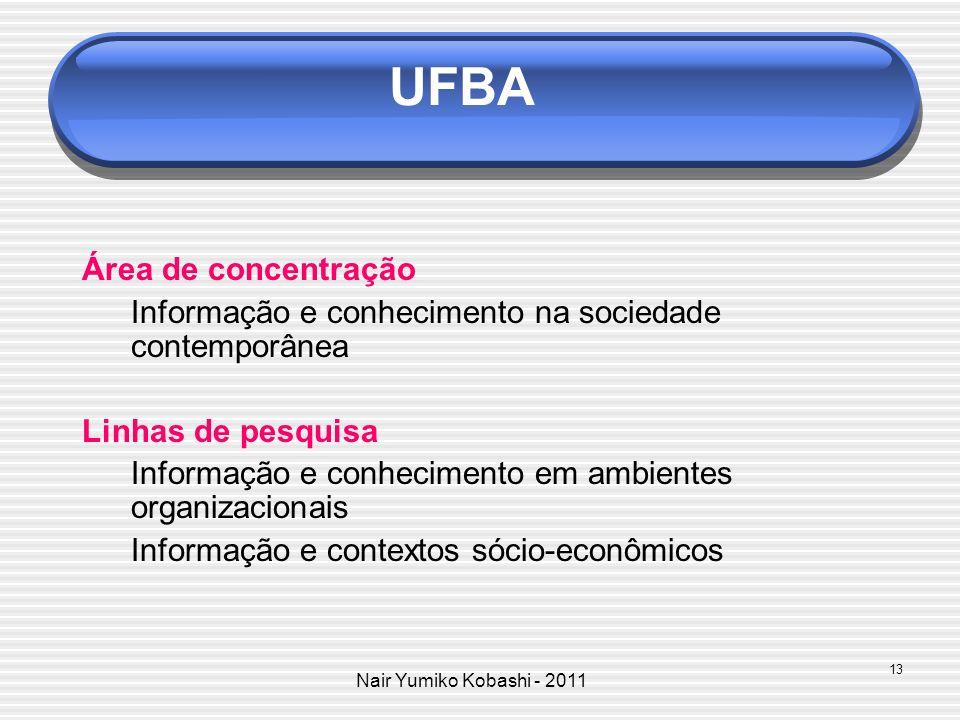 UFBA Área de concentração