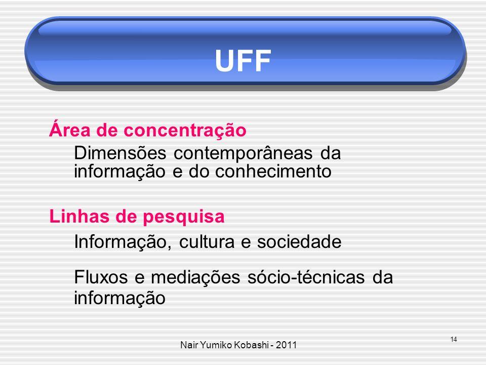 UFF Área de concentração