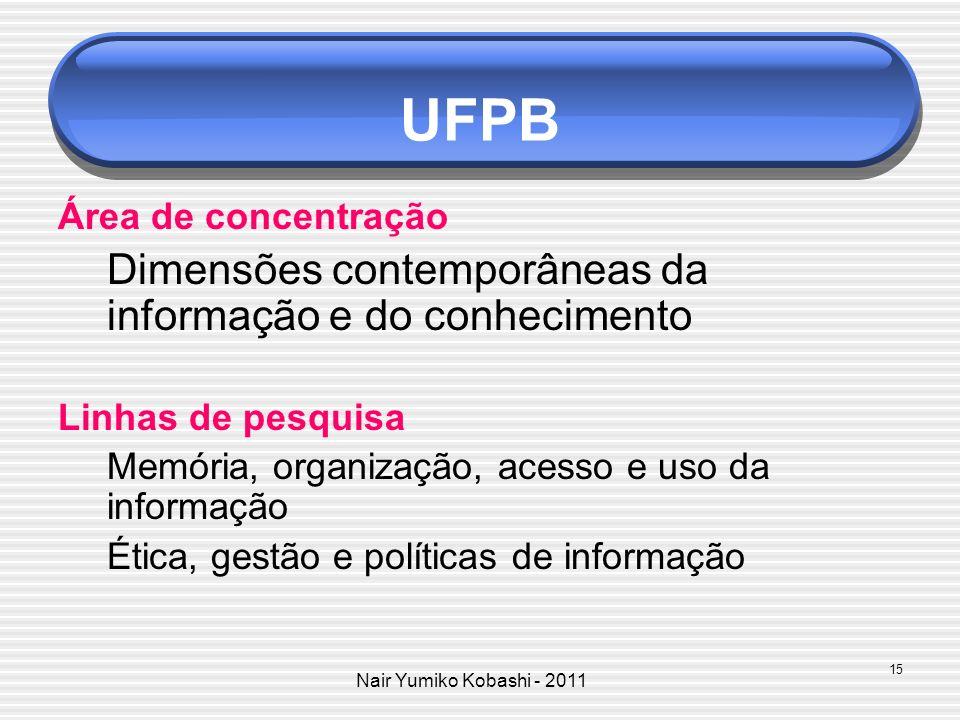UFPB Área de concentração