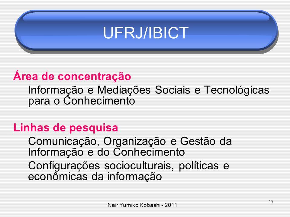 UFRJ/IBICT Área de concentração