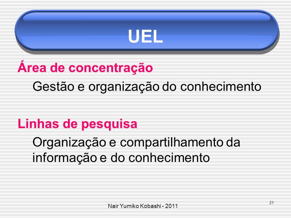 UEL Área de concentração Gestão e organização do conhecimento