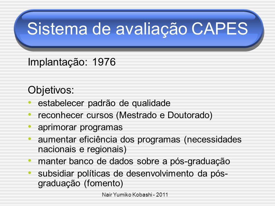 Sistema de avaliação CAPES