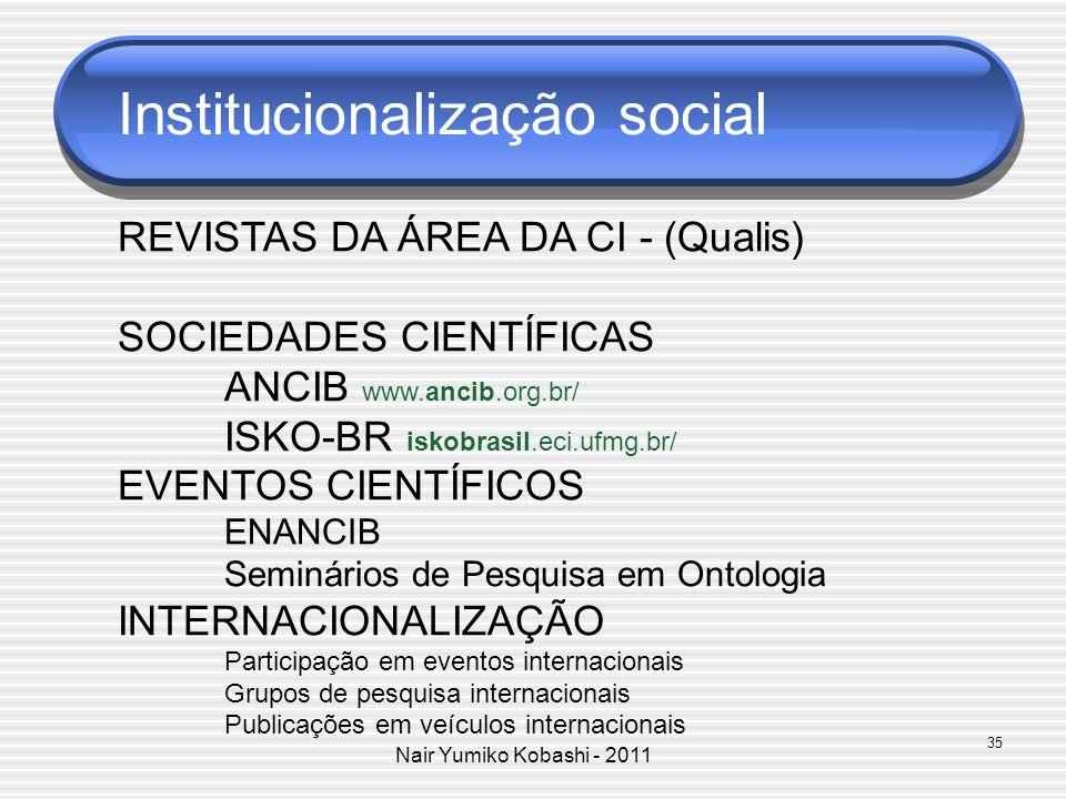 Institucionalização social