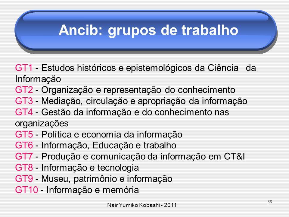 Ancib: grupos de trabalho
