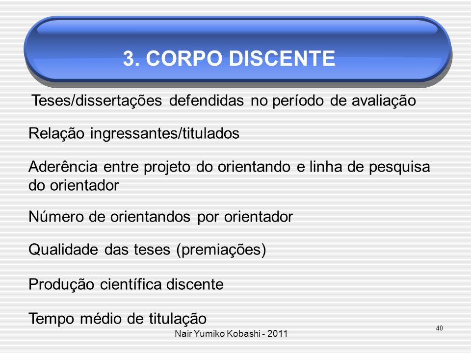 3. CORPO DISCENTE Relação ingressantes/titulados