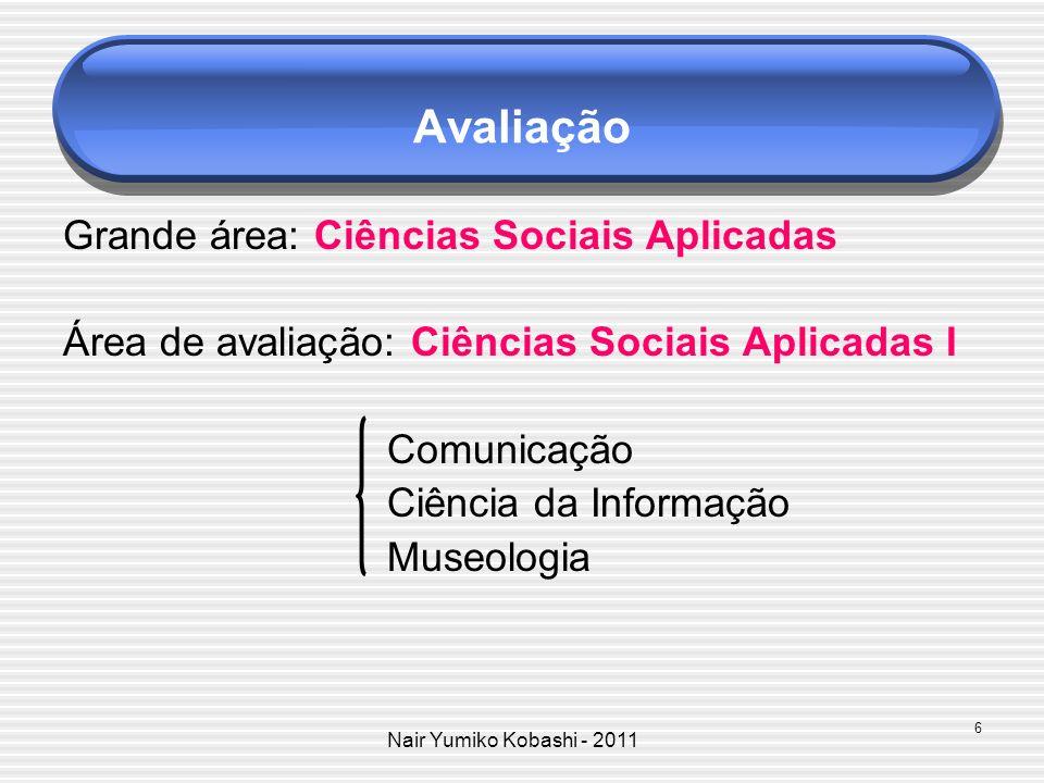 Avaliação Grande área: Ciências Sociais Aplicadas