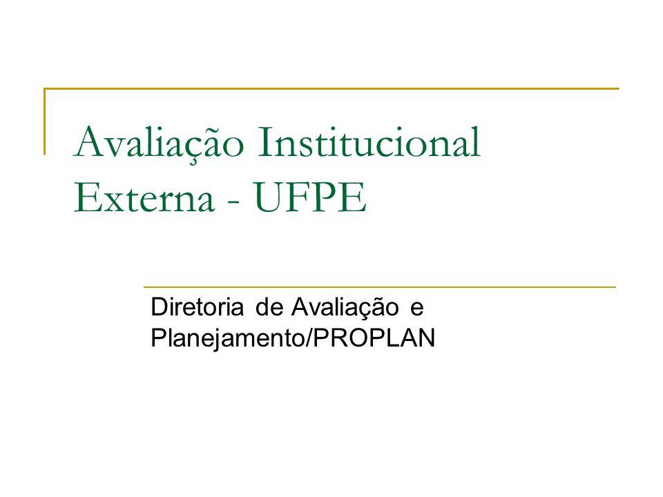 Avaliação Institucional Externa - UFPE