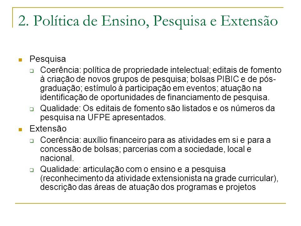 2. Política de Ensino, Pesquisa e Extensão