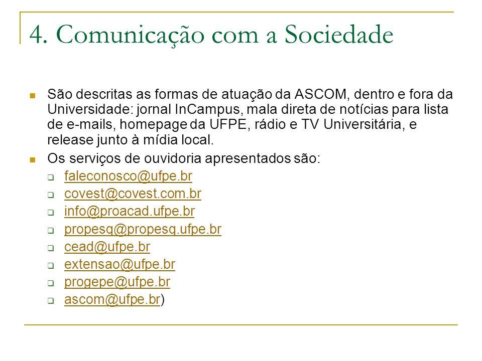 4. Comunicação com a Sociedade