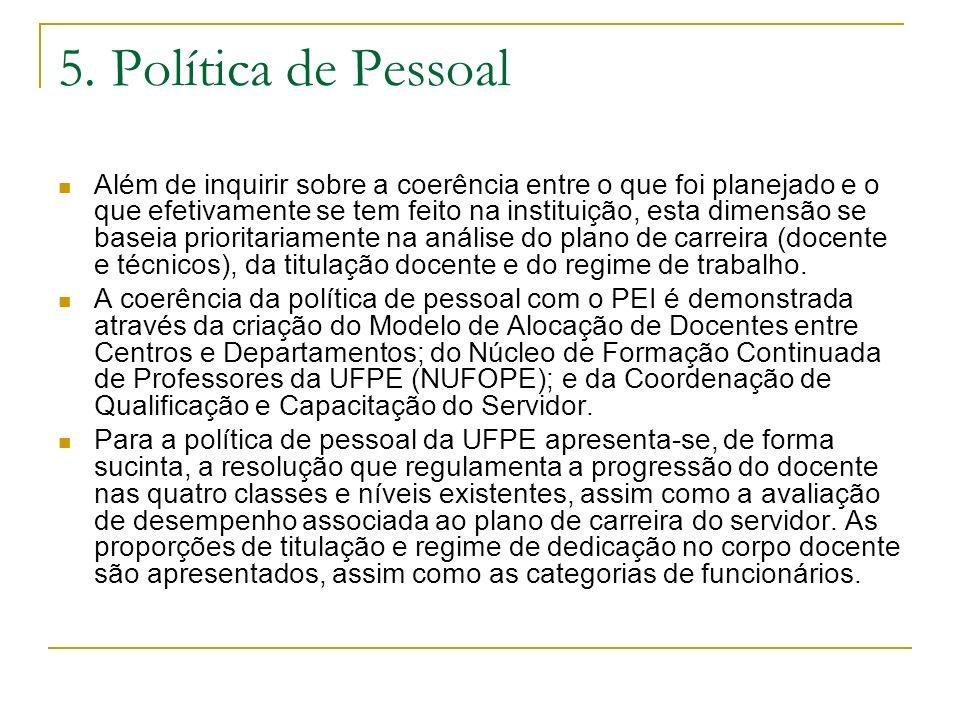 5. Política de Pessoal