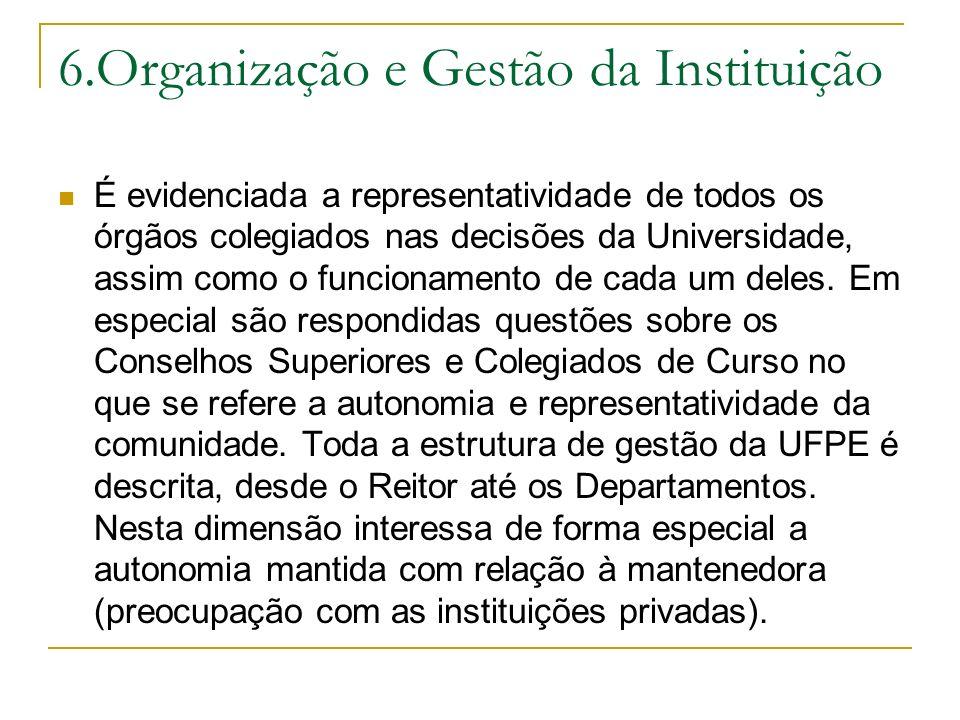 6.Organização e Gestão da Instituição